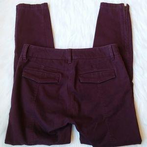 Ann Taylor Loft Marisa Pants Sz 4 Plum Purple